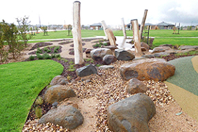 Nature Play Equipment Using Natural Stone (First Stage of the Annadale Estate Project Park)