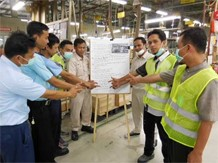 Risk prediction training for local employees at Indonesian manufacturers